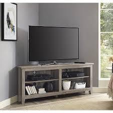 58 inch corner tv stand driftwood 58 corner tv stand driftwood grey