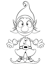 Cute Elf Coloring Pages Free Printable Christmas Elf Coloring Pages