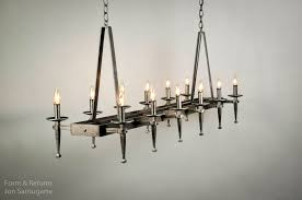 spanish delgado rectangular chandelier