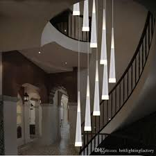 free shipp led lampshade linear pendant lighting modern lamp shade stair lights indoor