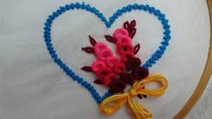 Love Hand Embroidery Designs Hand Embroidery Love Design Valentine Day Special Embroidery