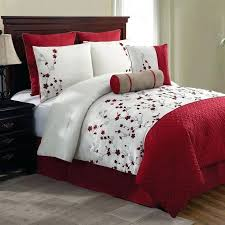 red and white bedding set new bed bag queen king 5 red white fl comforter pillows red and white bedding