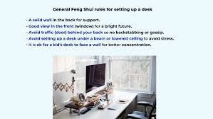 work or study from home feng shui setup