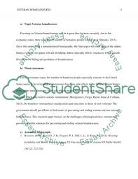 veteran homelessness essay example topics and well written  veteran homelessness essay example