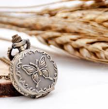 womens quartz pocket watch bronze erfly flower vintage necklace watch pendant keychain whole gift pocket watch pocket watches from jianyue16