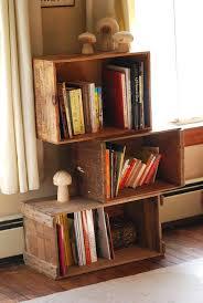 wood crate furniture diy. Wood Crate Bookcase Wooden Crates Furniture Design Ideas Diy Wall Shelves
