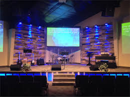 Glowing Stage Front Church Stage Design Ideas Scenic