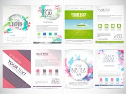 Presentation Flyers Set Of Four Business Flyers With Front And Back Side
