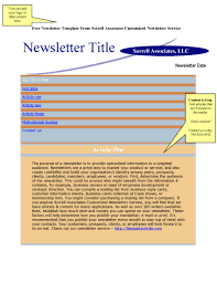 Employee Newsletter Templates Free Newsletter Blog Articles Provided Plus Free Newsletter Design