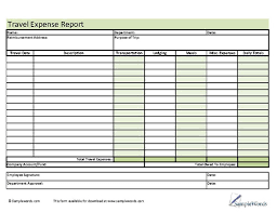 Travel And Expenses Travel Expense Report Form