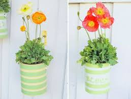 Recycled Paint Can Planters.