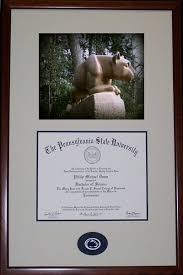 penn state proud diploma frame old main frame shop gallery