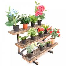 pleasing full image plus tier bronzestraight etagere outdoor flower pot stands and outdoor flower pot stands