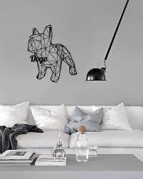 metal wall art geometric animal