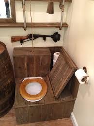 modern bathroom barrel sink rustic toilet opened the ultimate redneck bathroom restaurant bathroom ideas bathroom