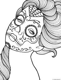 Small Picture Free Printable Day of the Dead Coloring Book Page by