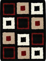 image is loading contemporary modern black red area rug squares rugs furniture s in dubai uae