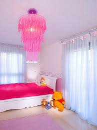 lighting for girls room. girls room kids winnie the pooh lighting idea pink chandelier for