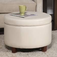 rounded ottoman rounded ottoman coffee table with storage which decorated with zigzag patterned fabric upholstery with