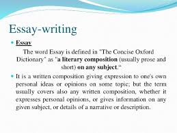 essay writing 2 characteristics of essay writing