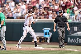 College world series game 12. Mississippi State Takes Game One From Notre Dame In Front Of A Record Crowd Supertalk Mississippi