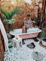 diy outdoor bath