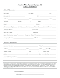 Patient Intake Form Template Word New Medical History Client