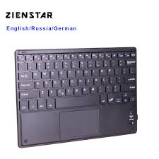 Zienstar 10 inch <b>Wireless Bluetooth</b> keyboard with <b>Touchpad</b> For PC ...