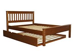 Amazon.com: Bedz King Mission Style Full Bed with a Full Trundle ...