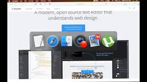 Mac Os X Web Design How To Install Bracket Text Editor On Mac Os X Ei Capitan 2016