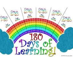 Rainbow 180 Day Attendance Chart Some Other Printables