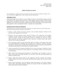 Paramedic Job Description For Resume firefighter paramedic resume firefighter paramedic resume examples 1