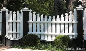 Fence white posts black picture interunet