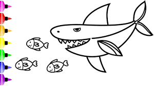 When you're done, you can save the result and/or share it online. White Shark Coloring Pages Art Coloring Book Youtube