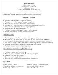 Resume Letters How To Write Cna Resume Skills Resume Letter