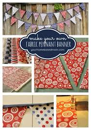 fabric pennant banner yourhomebasedmom com