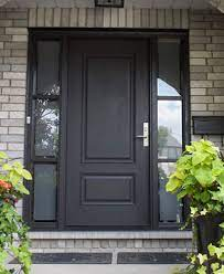 stained fiberglass entry doors