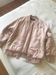 zara glossy oversized er jacket in pastel pink women s fashion clothes on carou