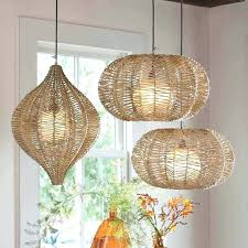 organic lighting fixtures. Ideas Hanging Lamps With Plug And Lighting Organic I Woven Wicker . Fixtures
