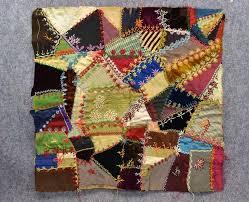 Antique crazy quilt sampler patch silk velvet patchwork 1800 best ... & Antique crazy quilt sampler patch silk velvet patchwork 1800 best fancy  stitches Adamdwight.com