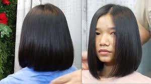 Bob Haircut Tutorial ตดผมบอบ แบบมดได Best Hairstyles