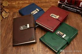 2019 diary with lock notebook b6 vintage lockable paper pu leather note book traveler journal weekly planner school stationery gift from airmen