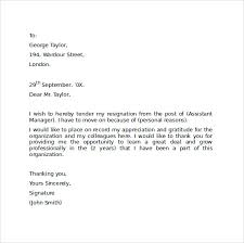 sample resignation letter format     download free documents in    professional resignation letter format