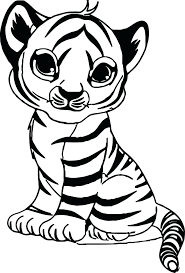 Cute Tiger Drawing Cute Tiger Coloring Pages 3 Cute Little Tiger
