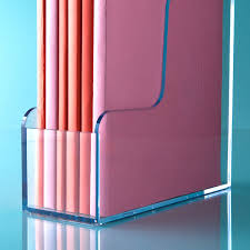 Purple Magazine Holder Clear Magazine Holder The Container Store 34