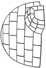 Small Picture Igloo coloring sheet Can fill with tissue paper cotton balls etc
