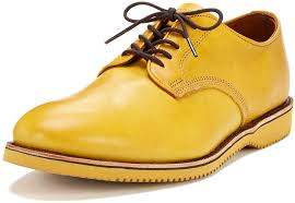 yellow leather oxford shoes walk over chase leather oxford