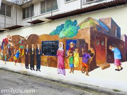 mural arts lane ipoh on mural wall art ipoh with eric lai artist from emily to you