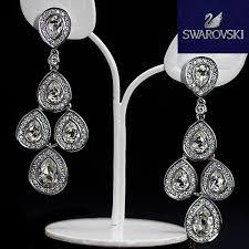 beauty s sensation earrings clear crystal jewelry 1156254