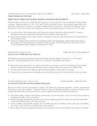 Futures Broker Sample Resume